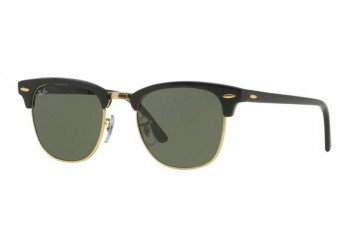 Lunettes de soleil Ray-Ban Clubmaster RB3016 W0365 Black/Gold | Revendeur Agréé Ray-Ban | product_reduce_price