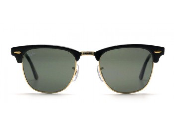 Sunglasses Ray-Ban Clubmaster RB3016 W0365 Black/Gold