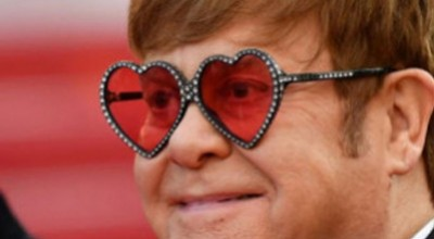 Gucci Elton John Heart Sunglasses: Cannes Film Festival 2019